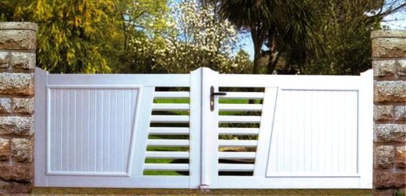 portails pvc sur mesure habitat discount portails et cl tures. Black Bedroom Furniture Sets. Home Design Ideas